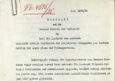 Arkitektkonkurranse om Danmarksplass, kontrakt inngått med Ole Landmark vedrørede utfomring av Danmarksplass. Datert 1. desember 1935.