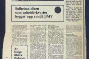 """""""Vika-folket i sol og skygge"""". Artikkel i Bergens Arbeiderblad 01.11.1975. Arkivet etter Institutt for Byfornying AS."""