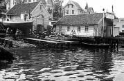 Slippen med nøst og maskinhus fotografert i 1960 av Gustav Brosius, billedsamlingene UBB.