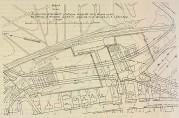 Kartet viser beliggenheten til Amlands og Berles gartnerier. Bergens kommuneforhandlinger 61/1916.