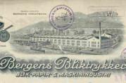 Bergen Blikktrykkeris brevhode, 1916.