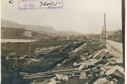 Sunde & Hansens repslageri under gjenoppførelse i Fjøsangerveien, u.å. Bygningssjefen i Bergen (A-0430 Ha).
