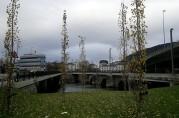 De tre broene over Nygårdsstrømmen, november 2011. Foto: Åsta Vadset, BBA.