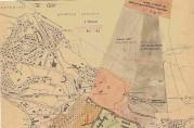 Kart over Haukeland, 1943. Arkivet etter Byggesaksavdelingen i Bergen kommune.