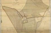 Kart over Årstad gård. Tegnet av  Th. Strømmen. Datert Bergen 27.09.1896.