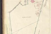 Kart- og delingsforretning avholdt 5. oktober 1928, Slettebakksveien 140x (gnr. 160 bnr. 181). Arkivet etter Oppmålingsvesenet i Bergen.