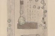 Oppmålingstegning av Slettebakken hovedgård fra 1925 av arkitekt Peter Andersen. Fra Bergen Arkitektforenings oppmålingsarkiv.
