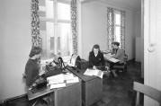 Fra kontoret. Billedsamlingen ved Univeristetsbiblioteket i Bergen. Norvin foto 1951.