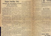 «Bergens fremtidige Vekst». Intervju med stadsingeniør O. Ingstad. Avisutklipp fra Bergens Tidende 12.august 1919.