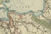 Utsnitt av kart over Bergen 1915. Arkivet etter Oppmålingsvesenet, Bergen Byarkiv.