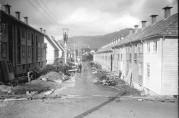 Selvbyggerhus i St. Olavsvei under bygging i oktober 1924. Foto: Knud Knudsen. Billedsamlingen, UBB. (UBB-KK-N-253/022).