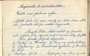 Møtereferat fra lagsmøtet i Årstad Arbeiderungdomslag 16. november 1945