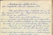 Beretning for Årstad Arbeiderungdomslag, perioden 7. september 1945 til 18. januar 1946