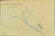Kart over Møllendal fra 1937, signert arkitekt Leif Grung