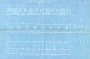 Forslag til arbeiderbarakk/husvillebarakk. Fasade og grunnplan. Signert A/S K. Toftegaard Lid. Arkivet etter Rådmannen for 4.avdeling. Bergen Byarkiv.
