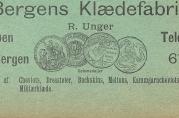 Annonsen er hentet fra Bergens Adressebok 1901.