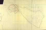 Kartskisse som viser deling av eiendommen Møllendalsveien 16, 27.10.1931. BBA-0430. Arkivet etter Bygningssjefen.