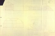 Tegning av fabrikken med forslag til endring, datert mai 1945. BBA-0430. Arkivet etter Bygningssjefen.