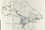 Kart over Aarstad herred, datert 31.12.1912 og signert Rogge. Vedlegg til bystyresak nr. 5/1913. Arkivet etter Finansrådmannen  (BBA-0155).