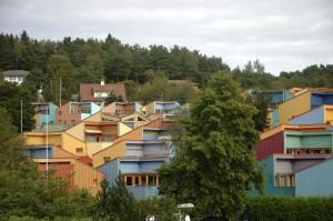 Åsligrenda, Ulseth, Åsane. Ved Arken. Fotograf: Ann-Kristin Loodtz.. Seksjon informasjon, Bergen kommune.