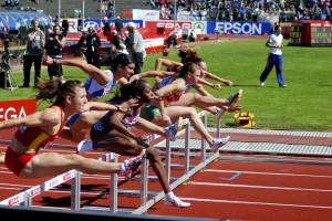 EM i friidrett ved Fana Stadion i 2010.  Fotograf: Elisabeth Farstad. Seksjon informasjon, Bergen kommune.