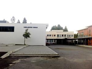 Hjellestad skole ble oppført i 1956. Arkitekt, Øystein Nestaas. Skolen ble påbygd i 1971. Arkitekt, Jan Olav Reither. Vektlegging på natur, kultur og miljø i pedagogikken har preget undervisningen de siste årene.