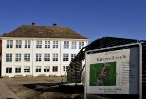 Kirkevoll skole, Fanavegen 314. Fotograf: Kristin Hauge Klemsdal. Seksjon informasjon, Bergen kommune.