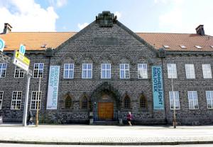 Bergen offentlige bibliotek sommeren 2013. Fotograf: Marius Solberg Anfinsen. Seksjon informasjon, Bergen kommune,2013.