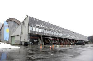 Bergenshallen sto ferdig i 1968. Den ble tegnet av arkitekt Erik Dogger. Fotograf: Marius Solberg Anfinsen. Seksjon informasjon, Bergen kommune.