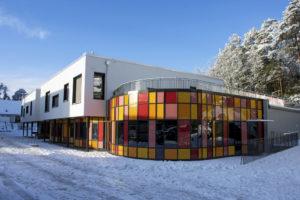 Alvøen skole 17.1.2018. Fotograf Andrew M. S. Buller, Seksjon Informasjon, Bergen kommune.
