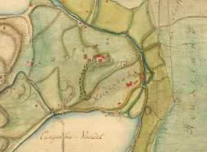 Årstadgeilen og Møllendal. Kartutsnitt. Fra arkivet etter Oppmålingsvesenet. Eldre kartsamling, Bergen Byarkiv.