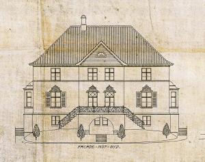 Villaen i Arnoldus Reinsgate 11 ble opprinnelig bygget for skipsreder Chr. Torp i 1920. Den ble tegnet av arkitekt Daniel Muri. Villaen er nå en del av Haukeland Hotell. Arkivet etter arkitekt Daniel Muri, Bergen Byarkiv.