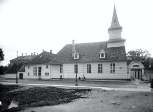 St. Jørgens hospital fotografert rundt 1900.