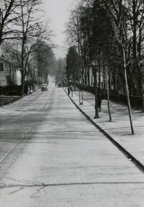 Kalfarveien, mai 1947. Fotograf: Ukjent. Arkivet etter Park- og idrettsvesenet, Bergen Byarkiv.