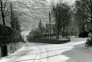 Jonas Lies vei. Udatert foto. Fotograf: Ukjent. Arkivet etter Kom.avd. fritid, kultur og kirke, Bergen Byarkiv.