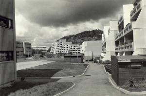Brønndalen borettslag på 1970-tallet. Fotograf: Ukjent. Arkivet etter Morgenavisen A/S, Bergen Byarkiv.