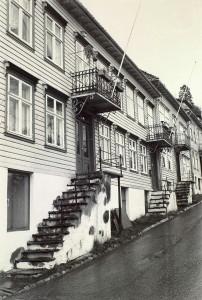 Brattlien rundt 1980. Fotograf: Ukjent. Arkivet etter Morgenavisen A/S, Bergen Byarkiv.