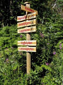 Canadaskogen, et populært turområde mellom Fyllingsdalen og Laksevåg. To av hyttene i området er åpne for turgåere om søndagen. Fotograf: Norvall Skreien