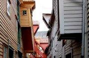 Bryggen er vernet og oppført på UNESCOs verdensarvliste. Fotograf: Ingfrid Bækken. Bergen Byarkiv.