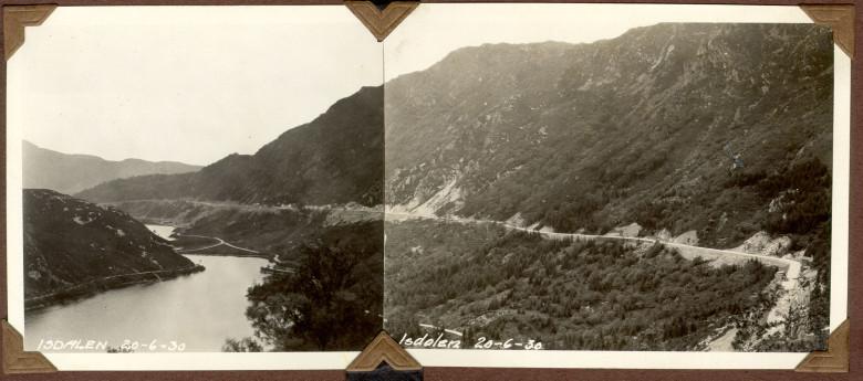 Isdalen og Svartediket 20.juni 1930. Fotograf: Ukjent. Arkivet etter Vann- og kloakkvesenet, Bergen Byarkiv.