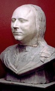 """Byste av Jens Boalth (1725-80), rektor ved Bergen katedralskole, kjent som """"Harmonien""""s stifter.  Fotograf: Norvall Skreien."""