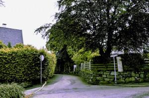 Lucie Wolffs gate ble i 1919 oppkalt etter skuespillerinnen Karen Lucie Wolf. Fotograf: Knut Skeie Aksdal, Bergen Byarkiv, 2013.
