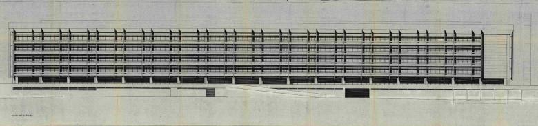 Realfagbygget med sine 47 000 m² bruksflate er et av landets største enkeltstående bygg. Bygningen ble tegnet av arkitekt Harald Ramm Østgaard, og sto ferdig i 1977. Realfagbygget er en del av Det matematisk-naturvitenskapelige fakultet ved Universitetet i Bergen. Arkivet etter Bygningsjefen, Bergen byarkiv.
