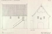 Stadsporten, målt og tegnet av Halfdan Wiberg i 1952. Kopi. Arkivet etter Fortidsminneforeningen, Bergen og Hordaland avdeling, Bergen byarkiv