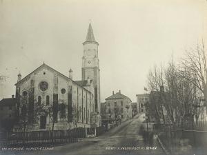 St. Pauls kirke. Udatert foto. Fotograf: Knud Knudsen. Arkivet etter Formannskapet, Bergen Byarkiv.