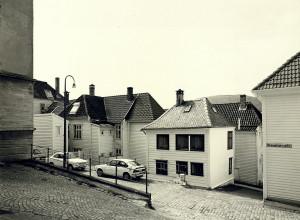 Nedre Strangehagen fotografert rundt 1980. Fotograf: Øyvind H. Berger. Fotoregistrering av Bergen, Bergen Byarkiv.