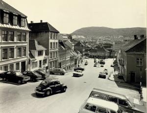 Vestre Murallmenningen fotografert rundt 1980. Fotograf: Øyvind H. Berger.