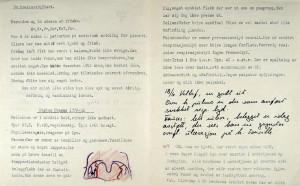 Fra sykejournalen til en ung mann med difteri. Den ble journalført i 1935. Arkivet etter Haukeland Sykehus, Bergen Byarkiv.
