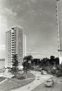 Brunestykket på1970-tallet. Fotograf: Ukjent. Arkivet etter Morgenavisen AS, Bergen Byarkiv.