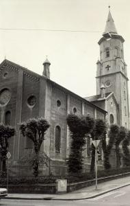 St. Pauls kirke, Nygårdsgaten 3 omkring 1980. Fotograf: Ukjent. Arkivet etter Morgenavisen AS, Bergen Byarkiv.
